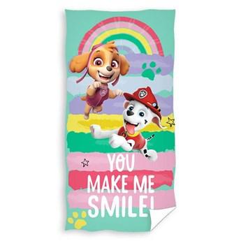 Ręcznik plażowy Psi Patrol 70x140 - 100% bawełna niebieski zielony różowy, Psi patrol Marshall Skye