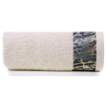 Ręcznik Eva Minge Carla beżowy w rozmiarze 50x90 z drukowaną bordiurą