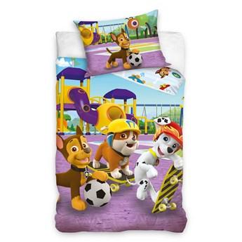 Bawełniana pościel dziecięca 160x200 dla dzieci Psi Patrol dwustronna, Marshall, Chase
