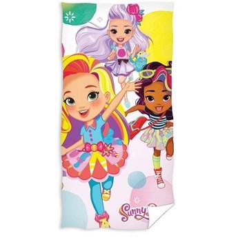 Ręcznik plażowy kolorowy dla dzieci 70x140 welurowy - 100% bawełna, Sunny Day lalki