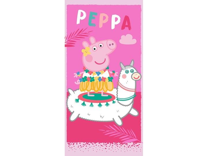 Ręcznik plażowy różowy 70x140 - 100% bawełna świnka peppa lama george