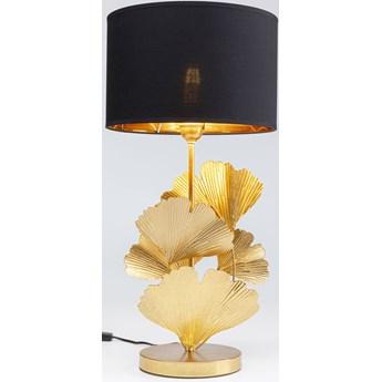 Lampa stołowa Flores Ø30x62 cm złota - klosz czarny