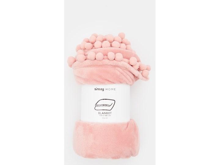 Sinsay - Koc z pomponami - Różowy 130x160 cm Kolor Beżowy