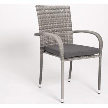 OUTLET - Krzesło ogrodowe z technorattanu MALAGA - szare