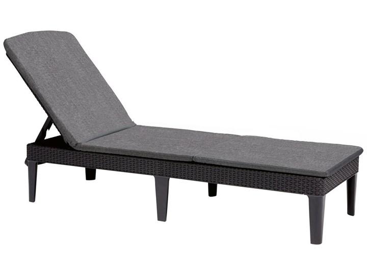 Leżanka basenowa leżak JAIPUR z poduszką - grafit Leżanki Tworzywo sztuczne Z regulowanym oparciem Kategoria Leżaki ogrodowe
