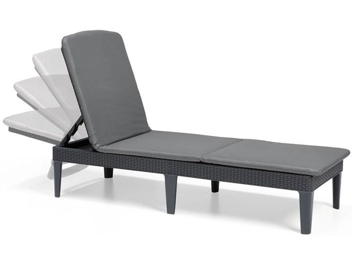 Leżanka basenowa leżak JAIPUR z poduszką - grafit Leżanki Z regulowanym oparciem Tworzywo sztuczne Styl Minimalistyczny