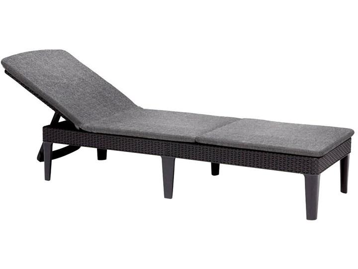 Leżanka basenowa leżak JAIPUR z poduszką - grafit Z regulowanym oparciem Kategoria Leżaki ogrodowe Tworzywo sztuczne Leżanki Styl Nowoczesny
