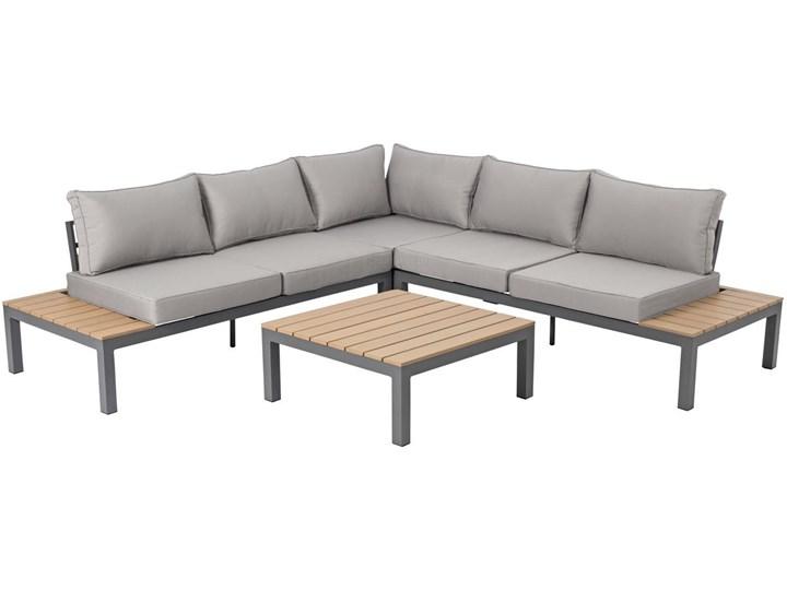 Narożnik ogrodowy aluminiowy BALI szaro-brązowy Zawartość zestawu Sofa Zestawy wypoczynkowe Aluminium Zawartość zestawu Stolik