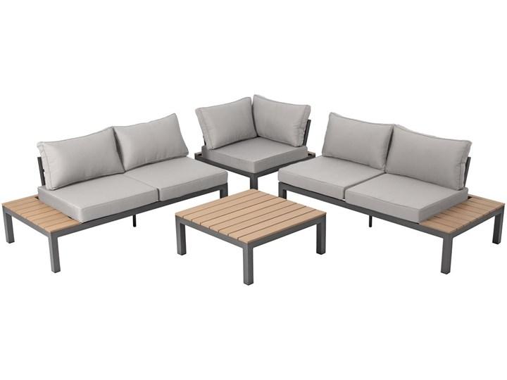 Narożnik ogrodowy aluminiowy BALI szaro-brązowy Zestawy wypoczynkowe Aluminium Styl Nowoczesny Zawartość zestawu Sofa