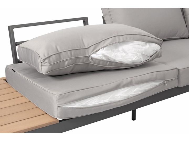 Narożnik ogrodowy aluminiowy BALI szaro-brązowy Aluminium Zestawy wypoczynkowe Zawartość zestawu Sofa
