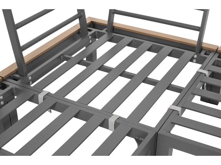 Narożnik ogrodowy aluminiowy BALI szaro-brązowy Zestawy wypoczynkowe Zawartość zestawu Sofa Aluminium Zawartość zestawu Stolik