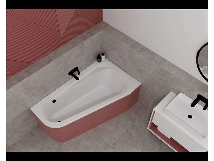 Wanna do zabudowy Massi KUGEZA 145x95 lewa Długość 145 cm Asymetryczne Akryl Kategoria Wanny Kolor Biały