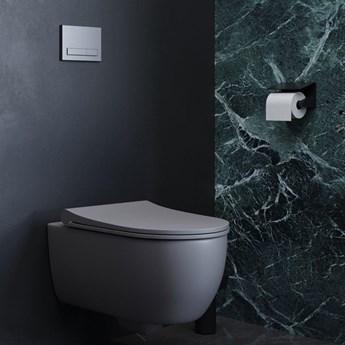 Miska WC wisząca Massi MOLIS GREY z deską wolnoopadającą Slim Duro