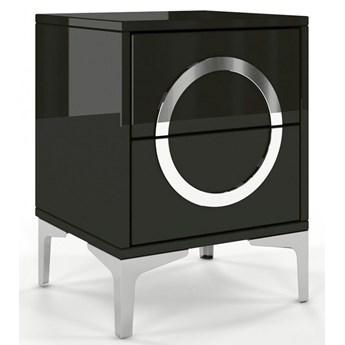 Czarna nowoczesna szafka nocna Dancan EVA / wysoki połysk
