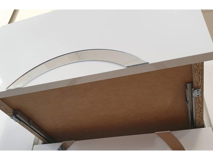 Biała nowoczesna komoda Dancan EVA   wysoki połysk Lustro Głębokość 38 cm Pomieszczenie Pokój nastolatka