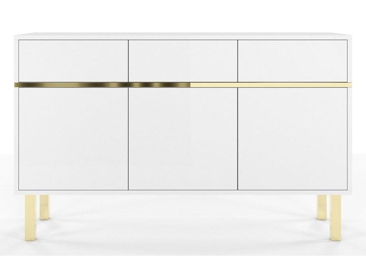 Elegancka biała komoda Dancan MAGICA ze złotymi dodatkami Wysokość 85 cm Pomieszczenie Pokój nastolatka