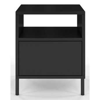 Czarna nowoczesna szafka nocna Dancan MIRKA