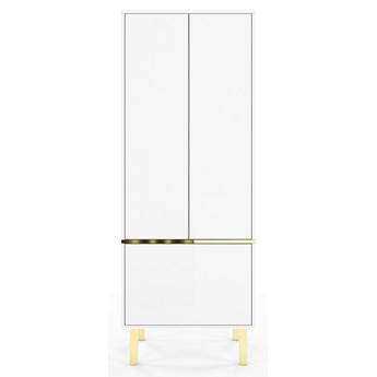 Elegancka biała szafa Dancan MAGICA ze złotymi dodatkami