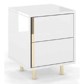 Elegancka biała szafka nocna CAROLINE marki Dancan