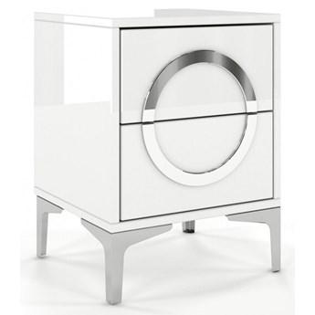 Biała nowoczesna szafka nocna Dancan EVA / wysoki połysk