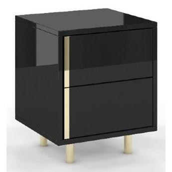 Elegancka czarna szafka nocna CAROLINE marki Dancan