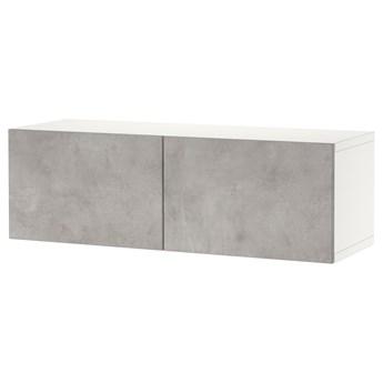 IKEA BESTÅ Kombinacja szafek ściennych, Biały Kallviken/jasnoszary imitacja betonu, 120x42x38 cm