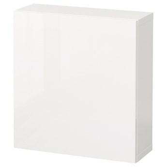 IKEA BESTÅ Kombinacja szafek ściennych, Biały/Selsviken połysk/biel, 60x22x64 cm