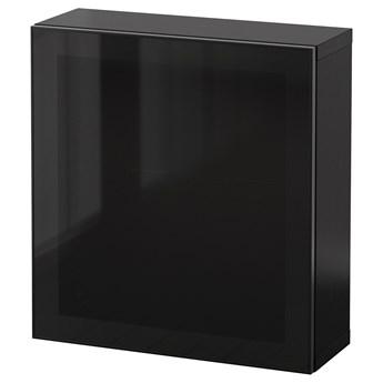 IKEA BESTÅ Kombinacja szafek ściennych, Czarnybrąz Glassvik/czarny szkło, 60x22x64 cm