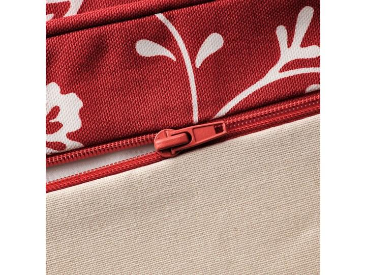 IKEA EKTORP Sofa narożna 4-osobowa, Virestad czerwony/biały, Minimalna szerokość: 243 cm Lewostronne Prawostronne Materiał obicia Tkanina