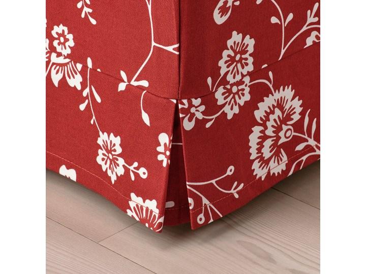IKEA EKTORP Sofa narożna 4-osobowa, Virestad czerwony/biały, Minimalna szerokość: 243 cm Lewostronne Prawostronne Funkcje Bez dodatkowych funkcji