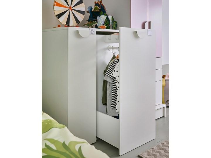 IKEA SMÅSTAD Szafa z elementem wysuwanym, biały, 80x57x108 cm Płyta laminowana Szerokość 80 cm Rodzaj frontów Mat Głębokość 57 cm Pomieszczenie Biuro i pracownia
