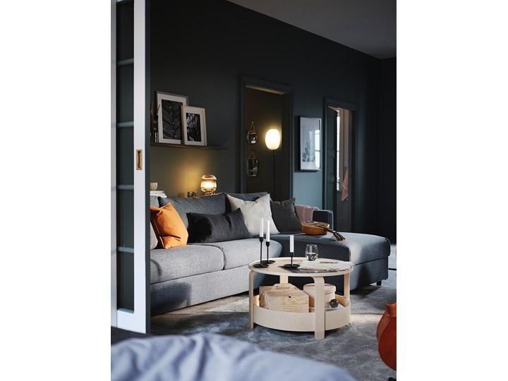 IKEA VIMLE Sofa 3-osobowa, z szezlongiem/Gunnared średnioszary, Wysokość z poduchami oparcia: 83 cm Nóżki Bez nóżek Prawostronne Styl Nowoczesny