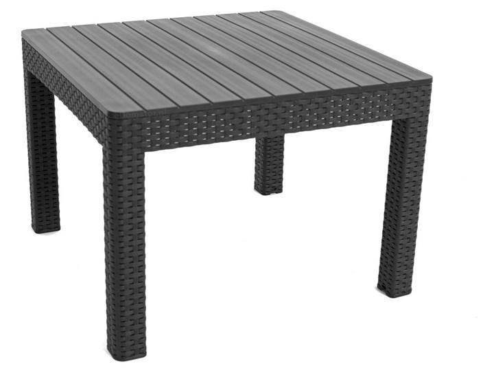 Komplet ogrodowy ORLANDO SET 4-osobowy - grafitowy Zestawy kawowe Kategoria Zestawy mebli ogrodowych Tworzywo sztuczne Rattan Zestawy wypoczynkowe Drewno Zawartość zestawu Sofa