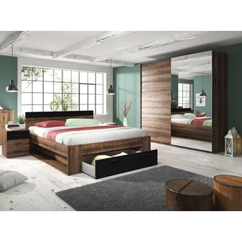 Sypialnia BETA dąb monastery + czarny : Dodatki - ---, Powierzchnia spania łóżka - 160x200cm