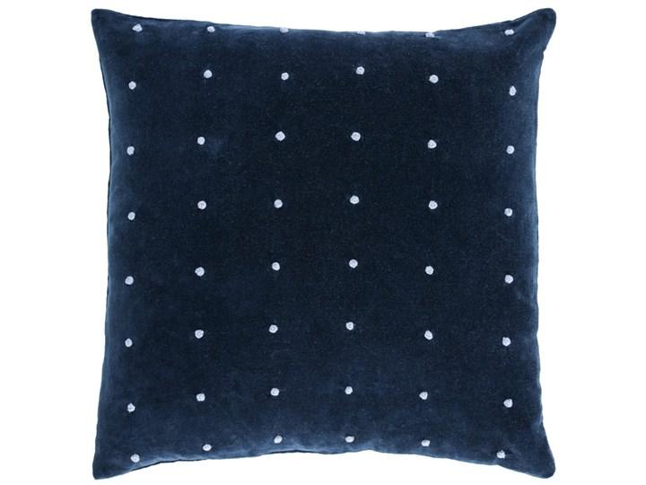 Poszewka na poduszke Aines 45 x 45 cm niebieski aksamit