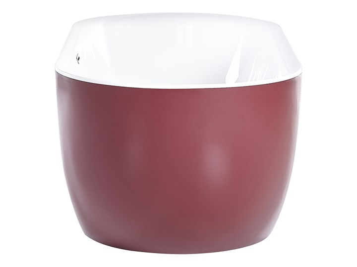 Wanna wolnostojąca czerwona akrylowa 170 x 80 cm system przelewowy owalna nowoczesna Wolnostojące Kolor Czerwony Długość 170 cm Kategoria Wanny