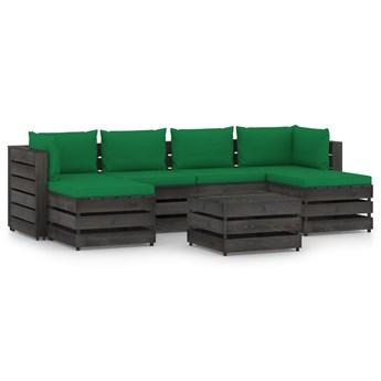 vidaXL 7-cz. zestaw wypoczynkowy do ogrodu, z poduszkami, drewniany