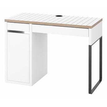 IKEA MICKE Biurko, Biały/antracyt, 105x50 cm
