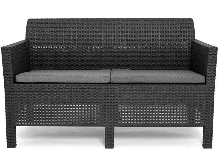 Komplet ogrodowy ORLANDO SET 4-osobowy - grafitowy Drewno Zestawy kawowe Rattan Tworzywo sztuczne Zestawy wypoczynkowe Zawartość zestawu Fotele Zawartość zestawu Sofa