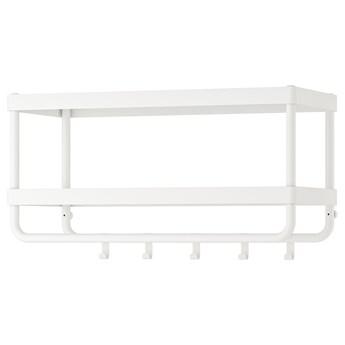 IKEA MACKAPÄR Wieszak na czapki i kurtki, biały, 78 cm