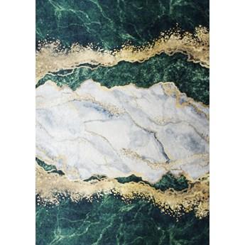 Dywan Simo 106 antypoślizgowy szary/zielony/złoty