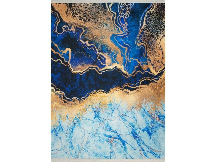Dywan Horeca antypoślizgowy 11 niebieski / złoty Poliester Dywany Prostokątny Pomieszczenie Salon