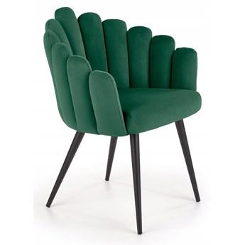 Krzesło Tapicerowane do Jadalni K410 Zielone Welur