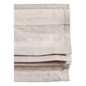 Naturalna roleta rzymska Ebba z lnu i bawełny 160x180 HIMLA