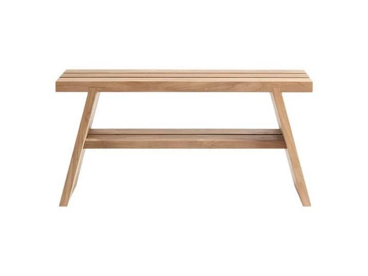 Naturalna ławka z półką Soul z drewna tekowego MUUBS