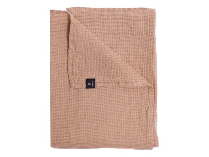 Różowy Nude lniany ręcznik Fresh Laundry w waflowy wzór 70x135 HIMLA 50x50 cm Komplet ręczników 70x135 cm Kategoria Ręczniki Len Kolor Miętowy