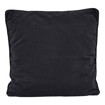 Duża czarna poszewka na poduszkę Alwar 50x50 z bawełny HOUSE DOCTOR