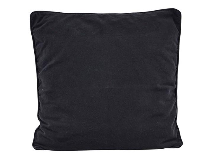 Duża czarna poszewka na poduszkę Alwar 50x50 z bawełny HOUSE DOCTOR Bawełna 50x50 cm Poszewka dekoracyjna Kwadratowe Pomieszczenie Salon