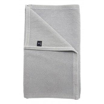 Jasnoniebieski dywanik łazienkowy Love OEKO-TEX 50x80 z bawełny HIMLA