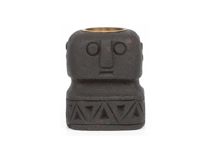 Czarny świecznik Sumba Stone 26 z piaskowca BAZAR BIZAR